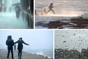 Storm Brian brought wind and rain to Yorkshire last week.