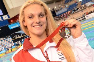 Ellie Faulkner with her bronze medal from the 2014 Commonwealth Games