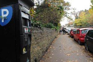On-street parking in Northumberland Road.