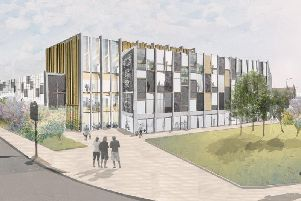 Sheffield Teaching Hospitals' proposed Orthopaedic and Rehabilitation Research and Innovation Centre at the Olympic Legacy Park.