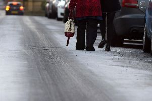Icy road conditions are on their way.