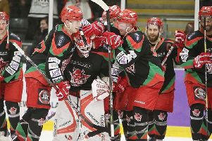 Cardiff Devils enjoy themselves against Steelers