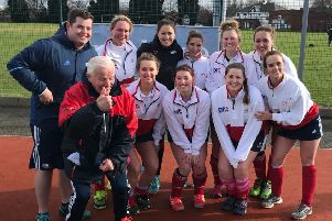 Doncaster's ladies are pictured with Olympic gold medallist Sam Quek.