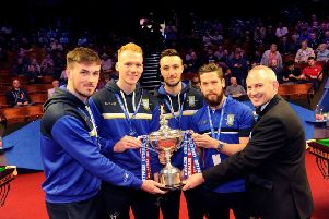 Sheffield Wednesday players take a break at Crucible for World Snooker Championships