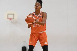 Sheffield Hatters' Gianna Woods who had been in the first two weeks of WBBL's All Star 5.