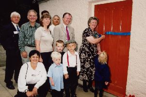 Then Lord Mayor councillor Marjorie Barker cuts the ribbon at the official reopening of Birley Spa Bath House in 2002