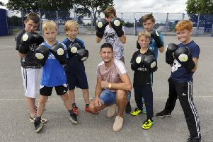 New youth sessions run by the new Jamie McDonnell Foundatation, have been set up by world champion boxer Jamie McDonnel. Picture: Scott Merrylees