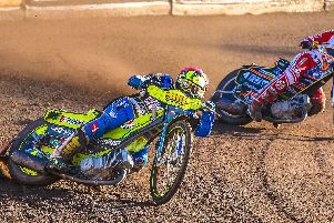 Lasse Bjerre in the lead. Pic by Phil Lanning