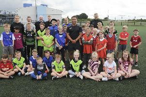 As part of Rossington's Expect Youth Summer programme Jason Robinson (England rugby world cup winner) came to visit Rossington Community Sports Village. Picture Scott Merrylees