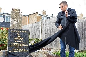 Paul Heaton, pictured unveiling the Hatfield Main Colliery Memorial. Picture: Marie Caley NLYP-13-09-18-HatfieldMainMemorial-3