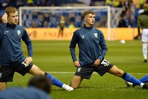 Isaac Rice warms up before the Leeds match