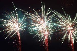 The fireworks display gets underway at the Doncaster Racecourse. Picture: Marie Caley