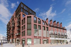 How Block B of Heart of the City II would look on Pinstone Street in Sheffield