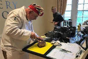 Chris gets to work in the Chefs for Heroes competition