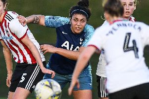 Renee Hector of Tottenham Hotspur Ladies has alleged that she was subjected to racist abuse by a Sheffield United Women's player during their match on Sunday. Picture: Harry Marshall/Sportimage