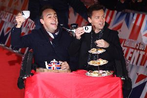 Ant McPartlin (r) and Declan Donnelly (l) arrive at the Britains Got Talent 2019 auditions held at London Palladium on January 20, 2019 in London, England. (Photo by Tim P. Whitby/Tim P. Whitby/Getty Images)