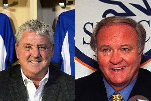 Sheffield Wednesday manager Steve Bruce and one of the Owls' most successful bosses, Ron Atkinson