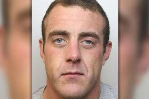 Pictured is Kurtis Britland, 27, of Brimington Road North, Chesterfield, who has been jailed for 15 months after admitting dangerous driving, common assault, driving while disqualified, driving without insurance and possessing cannabis.
