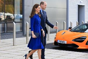 The Duke and Duchess of Cambridge opened the 50m McLaren factory in Rotherham in November. Picture: Chris Etchells