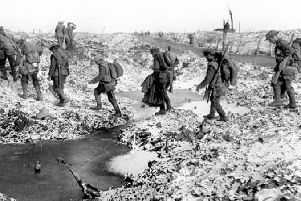 Conditions on the Somme battlefield in later parts of 1916.