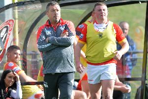 Sheffield Eagles Head Coach Mark Aston. Pic Steve Ellis