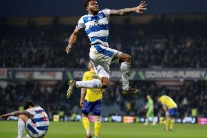 Queens Park Rangers' Darnell Furlong celebrates at the final whistle during the Sky Bet Championship match at Loftus Road, London.  Bradley Collyer/PA Wire.