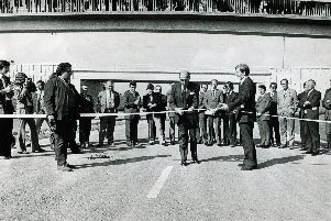 The official opening of the new Sheffield Parkway, September 16, 1974