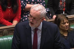 Labour leader Jeremy Corbyn speaking in the House of Commons, London after MPs voted on a motion to allow the Prime Minister to request a one-off extension ending June 30 was passed by 412 votes to 202. Picture:House of Commons/PA Wire