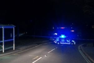Police cordon on Badger Road, Woodhouse. Picture: Sam Cooper / The Star.