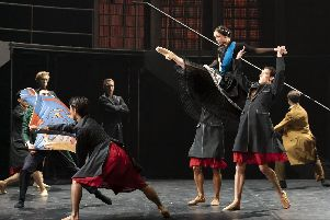 Abigail Prudames as Victoria with Northern Ballet dancers in Victoria.