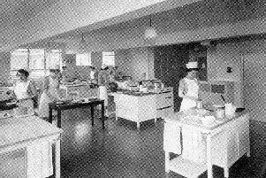 Advanced Cookery Room, Totley Hall Training College, 1953