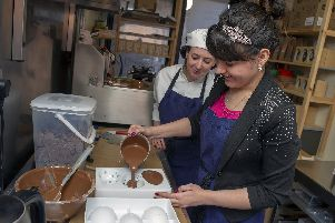 Rochelle chocolate making with Anna Sterling at Cocoa Mester in Krynkl for City Buzz. Picture Scott Merrylees