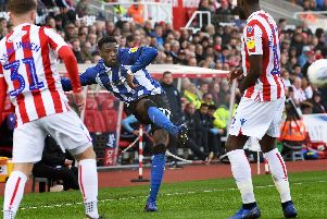 Owls defender Dominic Iorfa in action at Stoke City