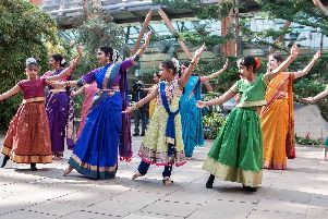 Performers from the Sunrit Culture Group celebrated Indian New Year at the Winter Gardens in Sheffield yesterday
