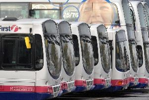 First buses.