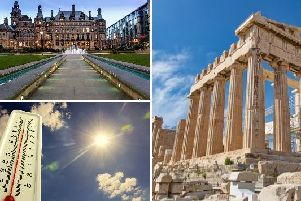 The weather in Sheffield today is set to be brighter and warmer than of late, reaching temperatures hotter than those in Athens.