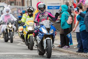 Sheffield Children's Hospital Easter Egg Run 2018 - Double World Superbike Champion James Toseland leads the ride in