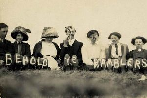 1920s Ramblers pose for a picture. Photo credit: Ramblers Association