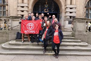 ACORN Sheffield recently handed in a 1,000 name petition to Sheffield Council