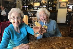 Sheffield twins Olive Vokins (left) and Doris Rhodes (right), nee Wharton, have celebrated their 90th birthday.