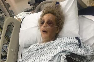 Britney Salim in intensive care in hospital after the attack.