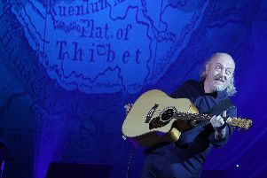 Comedian Bill Bailey performing his show Larks in Transit