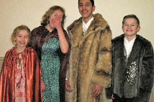 The Pevensey children in the show