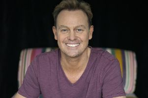 Jason Donovan, appearing on stage in Barnsley