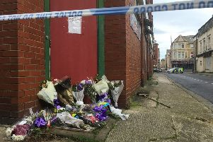 Flowers were left at the door of The Gordon Club in Morecambe