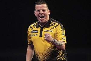 Dave Chisnall took victory on Saturday      Picture: Lawrence Lustig/PDC