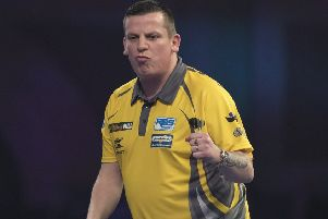 Dave Chisnall won again on Monday evening        Picture: Lawrence Lustig/PDC
