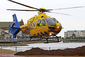 The Air Ambulance in Morecambe
