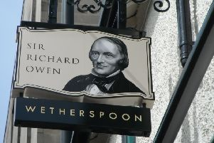 Sign for the Sir Richard Owen pub in  Spring Garden Street, Lancaster
