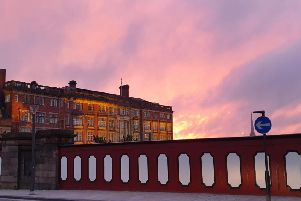 Beautiful sunset outside Preston Railway Station comes courtesy of LP reader Gareth Holden